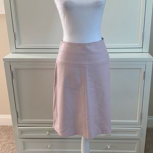 Valentino Jeans Pink Leather Skirt Size 42 Small 4